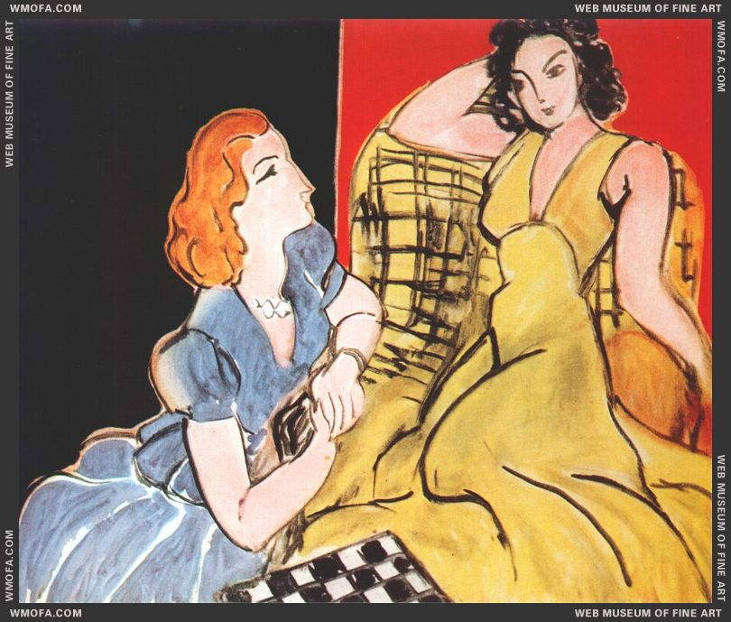 The_Conversation_(Yellow_Dress_and_Blue_Dress)_1941